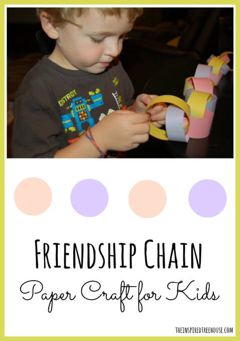 friendship chain paper craft for kids TITLE
