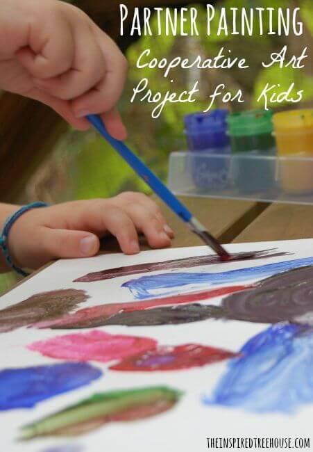 ART ACTIVITIES FOR KIDS: PARTNER PAINTING - The Inspired Treehouse