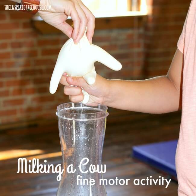 The Inspired Treehouse - We are always looking for fine motor skills activities to add into the mix!  This fun Milking a Cow activity is perfect for a farm or animal theme in a preschool classroom!