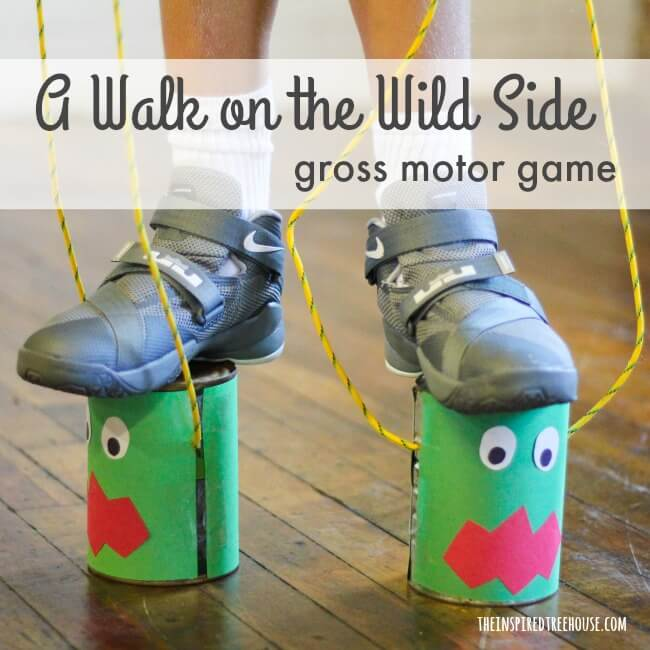 The Inspired Treehouse - Looking for fun Halloween ideas for kids?  Kids will love wearing these fun monster feet to take a walk on the wild side!