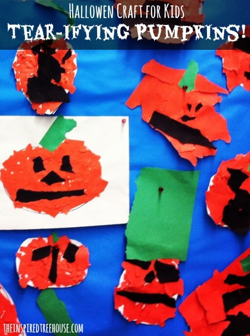 halloween craft tearifying pumpkins title image