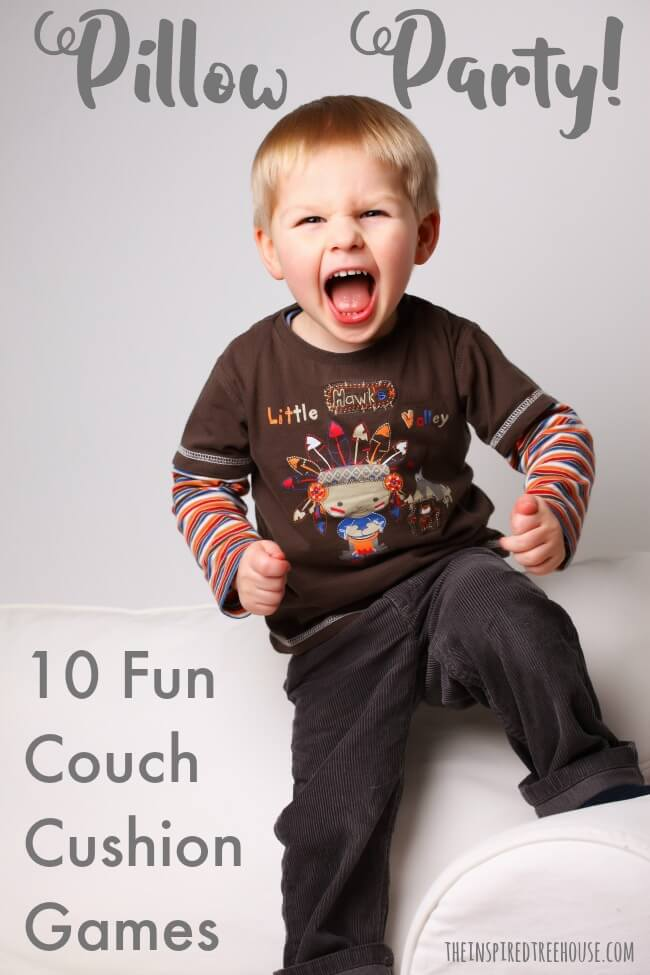 indoor games for kids pillow party pin