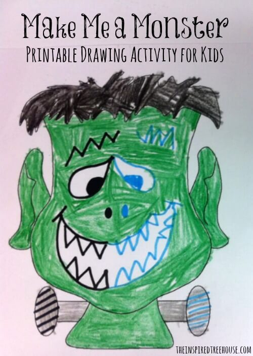 graphic regarding Halloween Crafts Printable referred to as Create a Monster Printable Halloween crafts for good engine capabilities