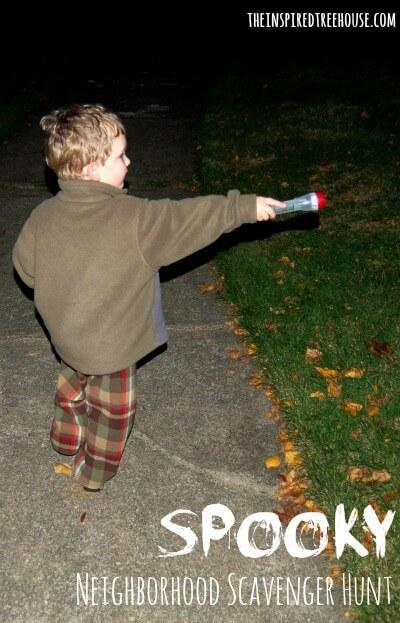 spooky scavenger hunt title image
