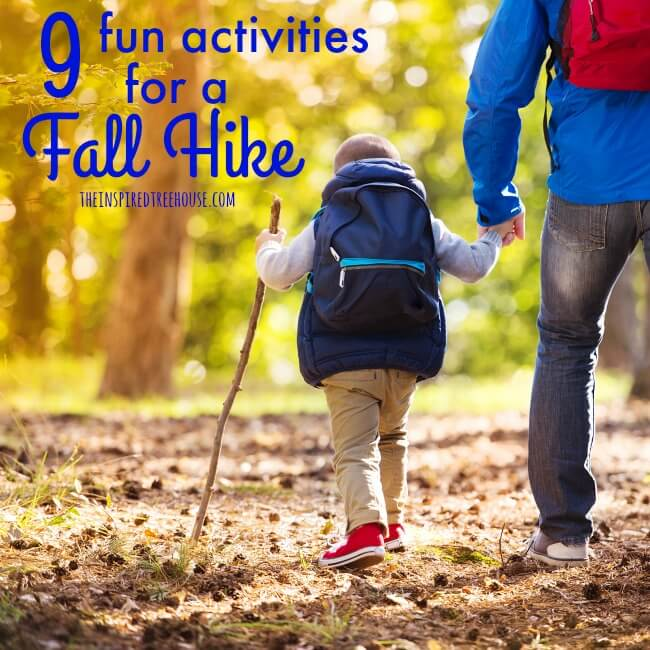 The Inspired Treehouse - A fall hike is the perfect time to work in some fun gross motor skill activities and the sensory experiences are amazing!