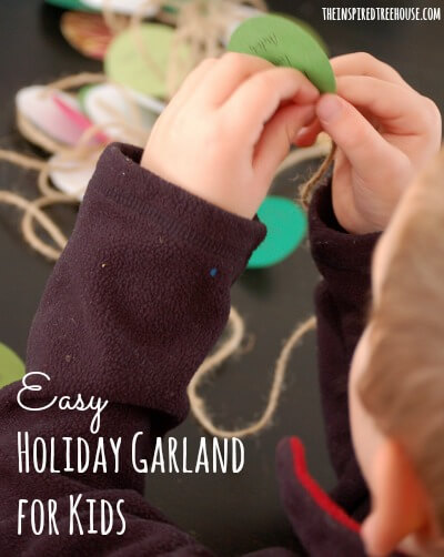 easy crafts for kids holiday garland 1 title