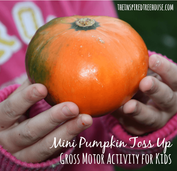 gross motor activities for kids mini pumpkin tossup
