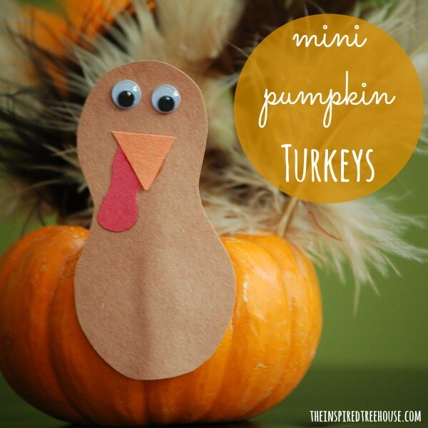 thanksgiving crafts for kids mini pumpkin turkeys title 2