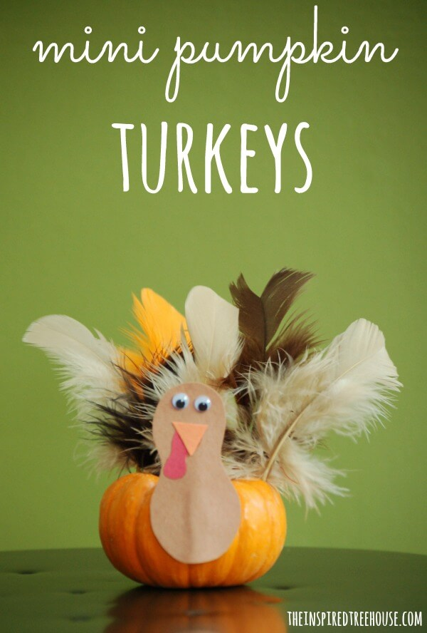 thanksgiving crafts for kids mini pumpkin turkeys title 1