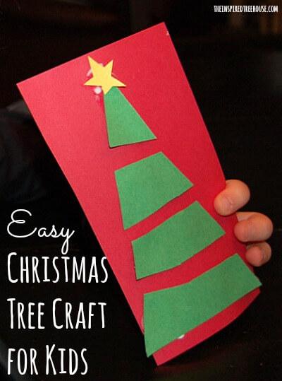 Christmas Scissor Crafts For Kids Oh Christmas Tree