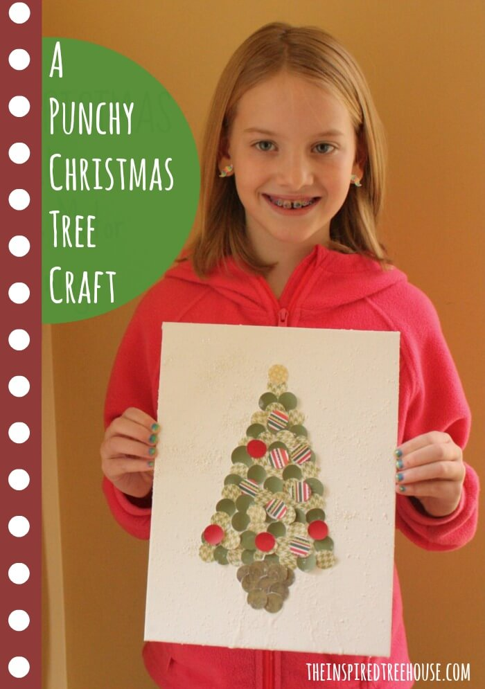 fine motor activities punchy christmas tree