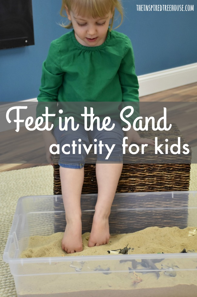 The Inspired Treehouse - In this fun twist on a traditional tactile sensory bin, kids will use their feet instead of their hands!