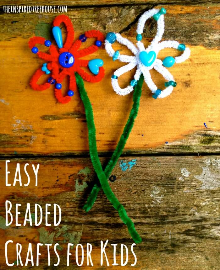 fine motor activities beaded flowers and snowflakes image