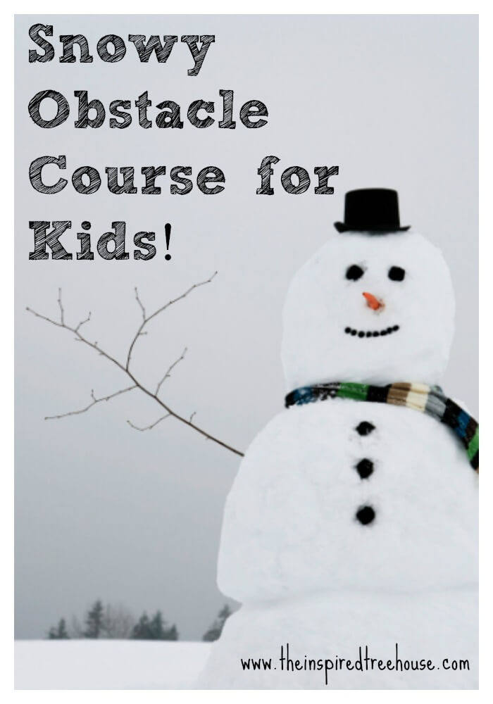 snowy obstacle course for kids