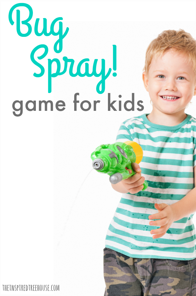 "The Inspired Treehouse - If you're looking for fun bug games for kids, add this game of ""Bug Spray"" to your list!"