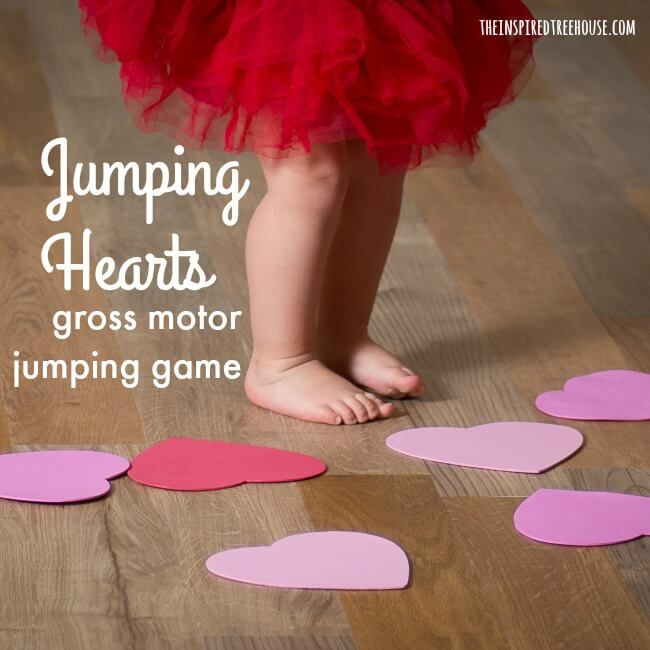 The Inspired Treehouse - Add this fun gross motor jumping game into your classroom or therapy routine this Valentine's Day!