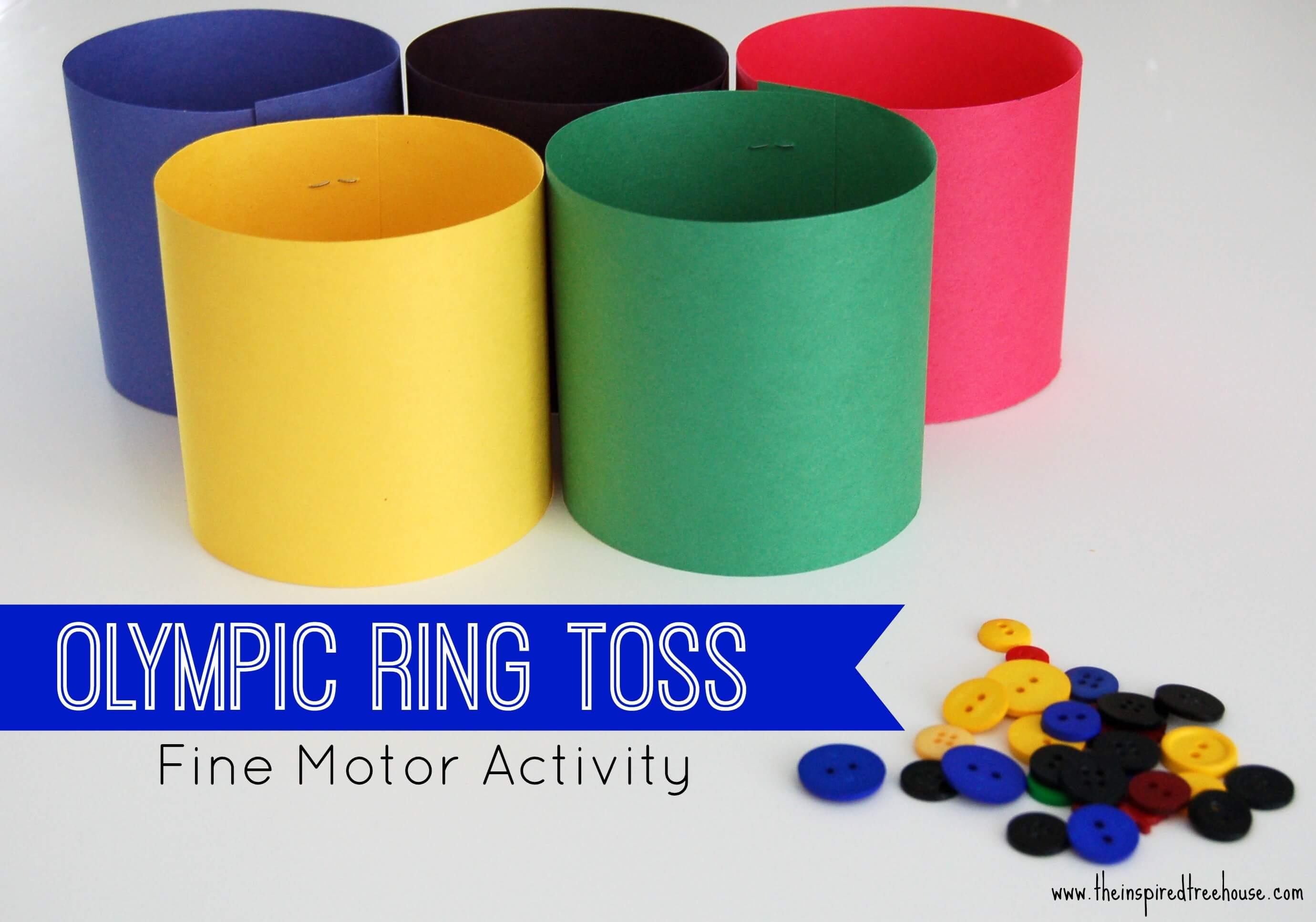 OLYMPIC FINE MOTOR RING TOSS GAME FOR KIDS