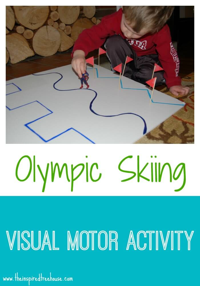 Olympic Skiing Activity For Kids Indoor Play