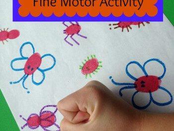 FINE MOTOR ACTIVITIES FOR KIDS: FINGERPRINT BUGS