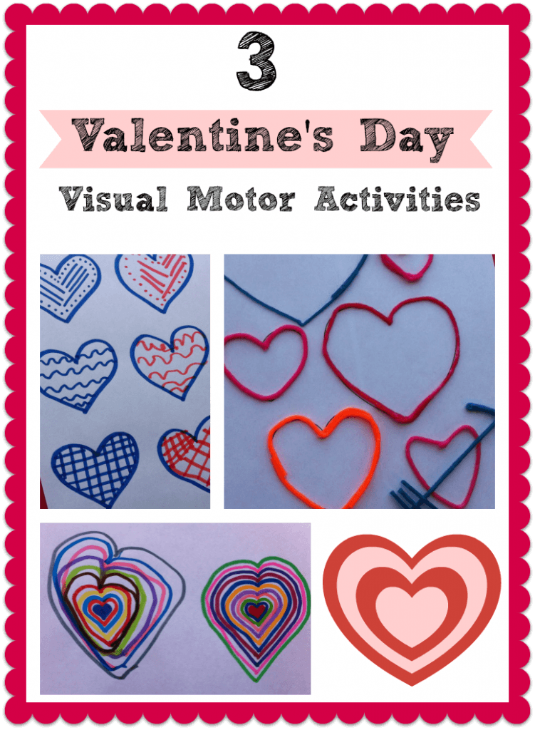 3 simple valentines day visual motor activities for kids