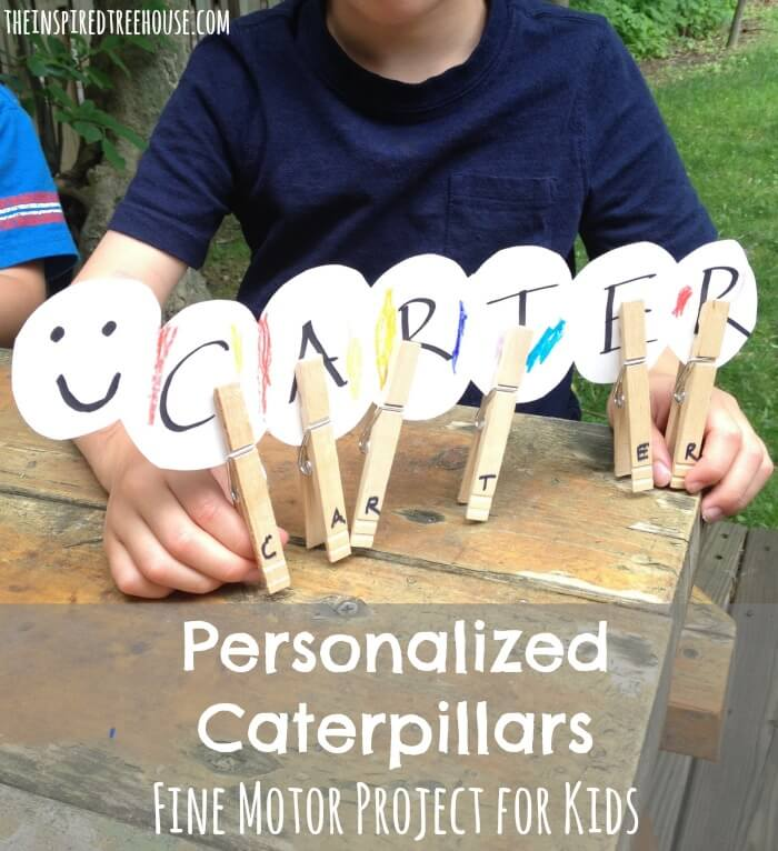 name craft for kids caterpillars