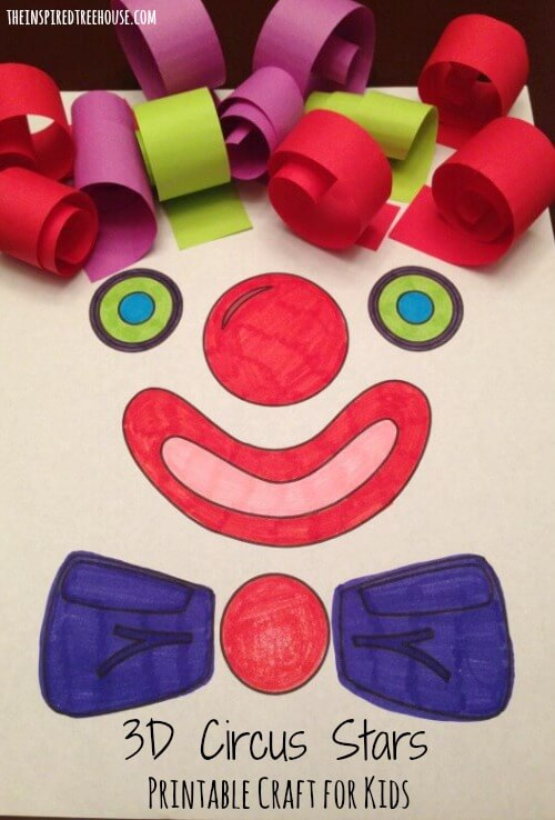 printable activities for kids clown