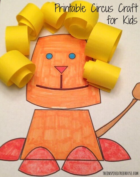printable activities for kids lion