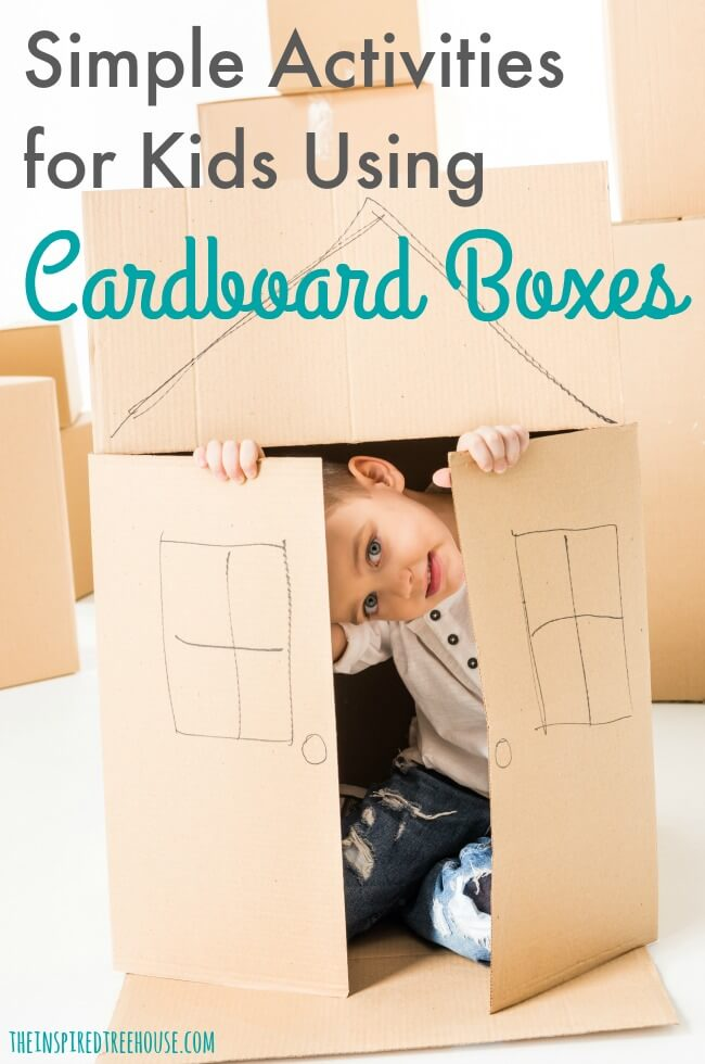 The Inspired Treehouse - These fun and simple activities with cardboard boxes will keep kids of all ages and ability levels entertained and engaged!
