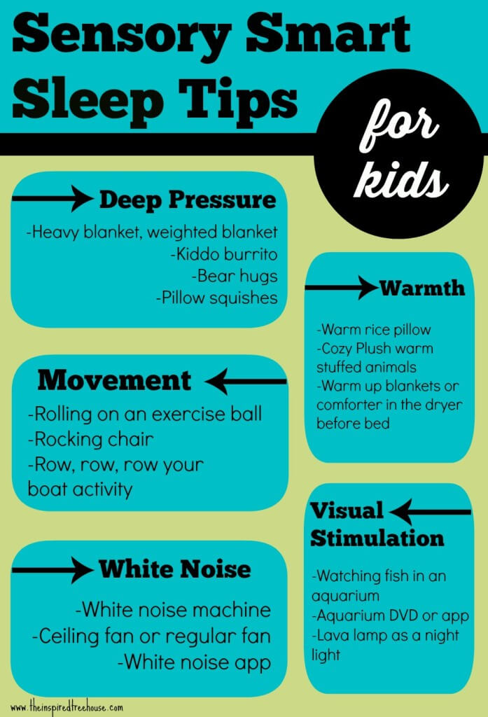 SENSORY SMART TIPS FOR KIDS WHO HAVE TROUBLE SLEEPING