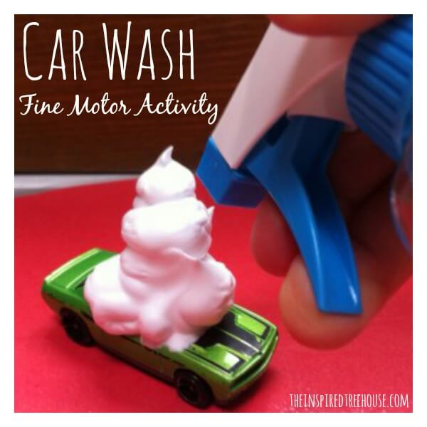 car wash fine motor activity