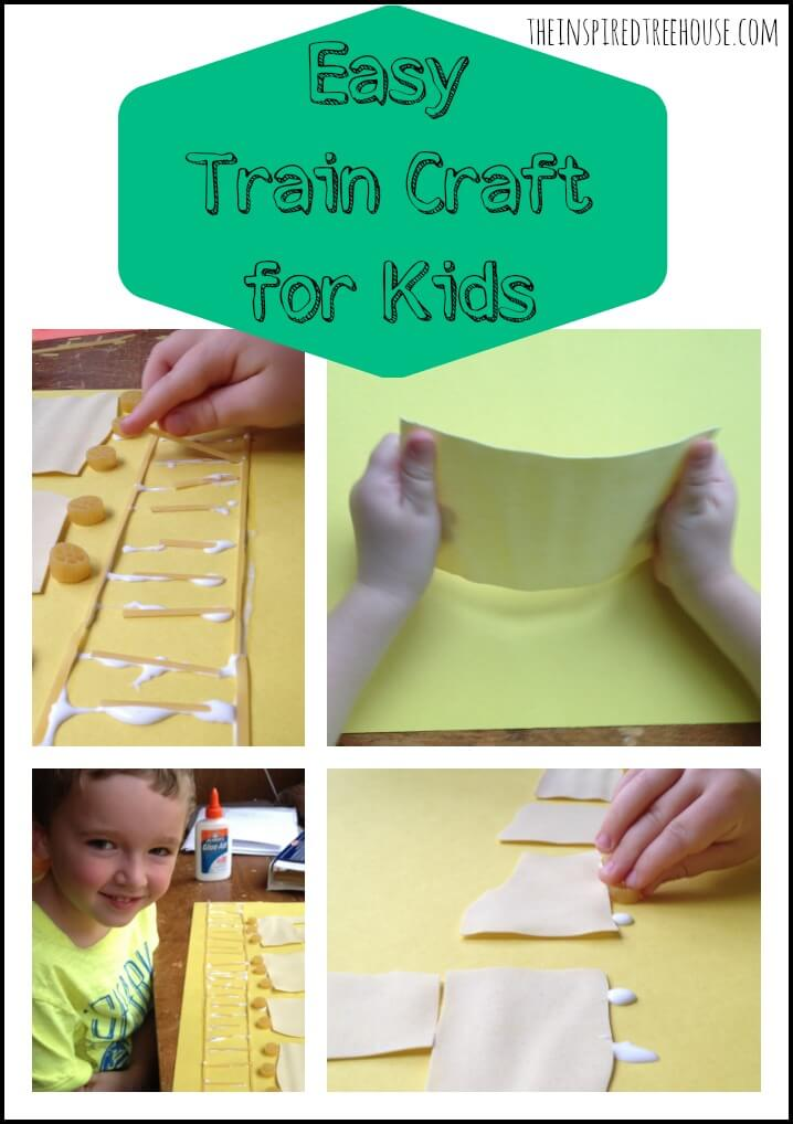 easy train craft for kids collage