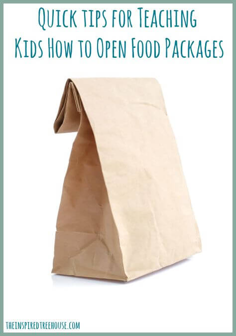 helping kids learn to open food packages title