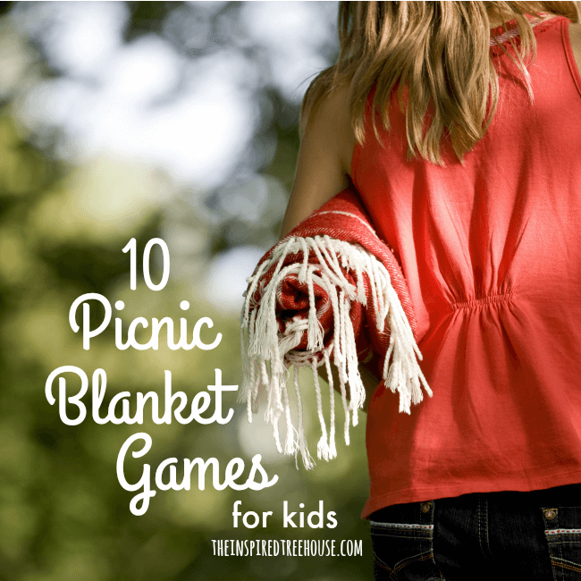 The Inspired Treehouse - These 10 Picnic Blanket Games are perfect for keeping kids entertained and active!