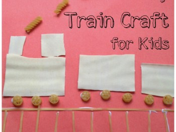 FINE MOTOR ACTIVITIES: EASY TRAIN CRAFT FOR KIDS