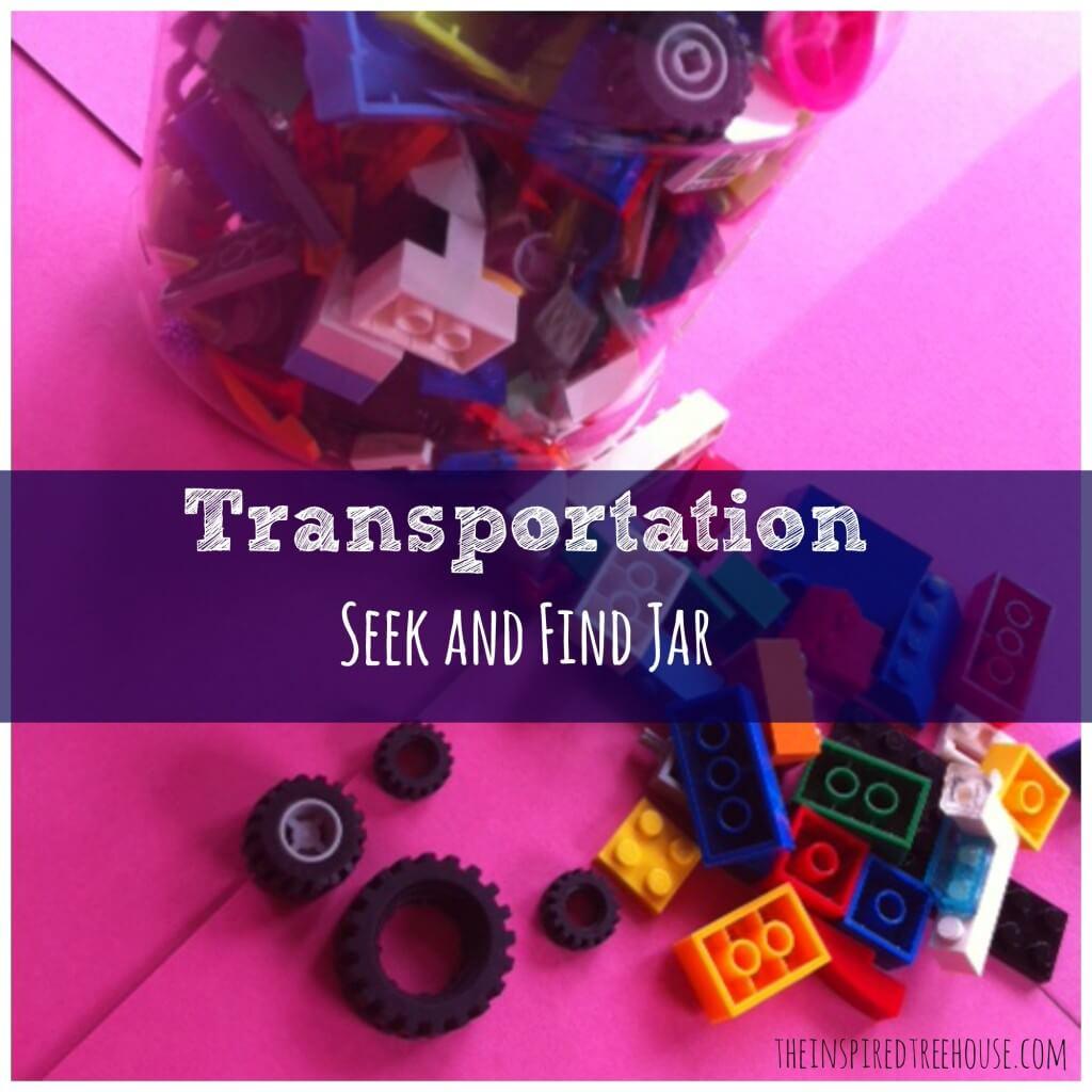 transportation seek and find jar