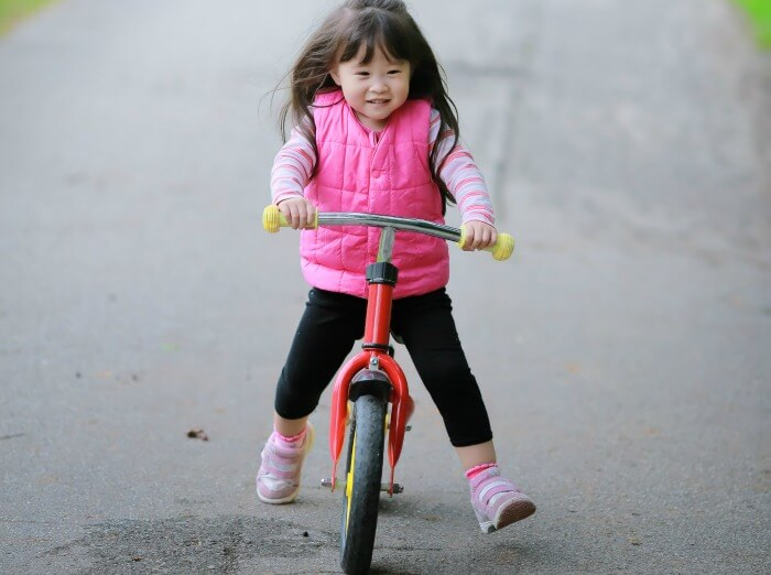 CHILD DEVELOPMENT: LEARNING TO RIDE A BIKE