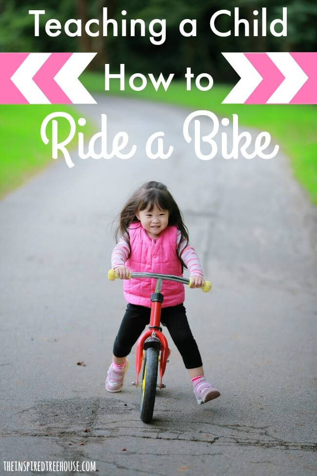 The Inspired Treehouse - Helping a Child Learn to Ride a Bike - A pediatric physical therapist gives her best tips for helping your child learn how to ride a bike!
