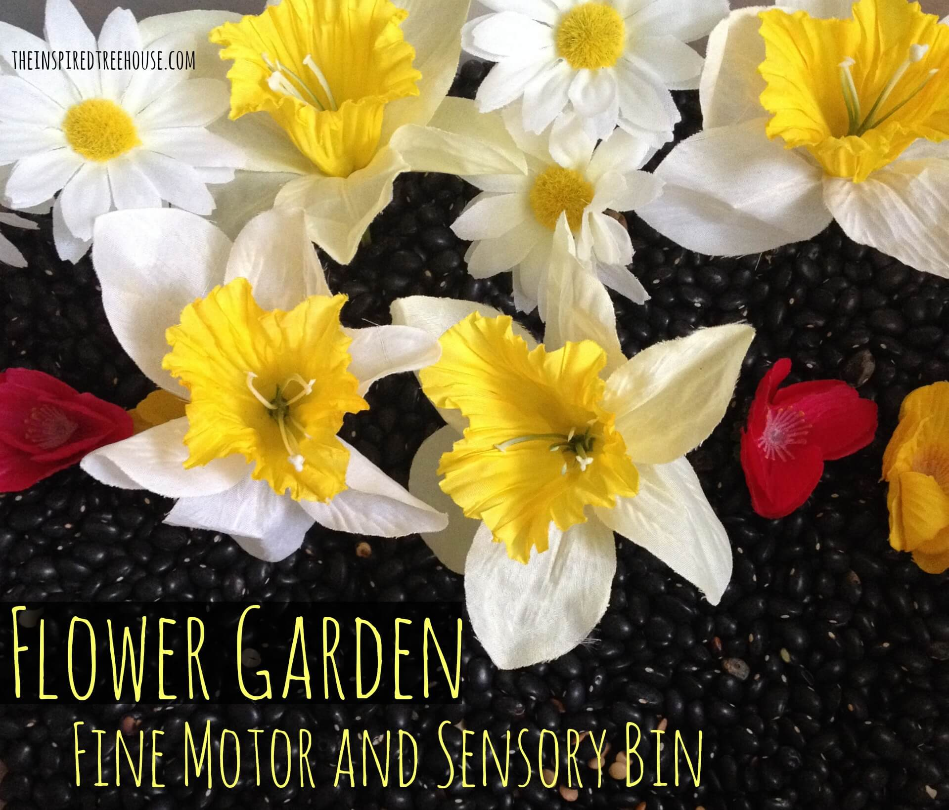 fine motor activities flower bin