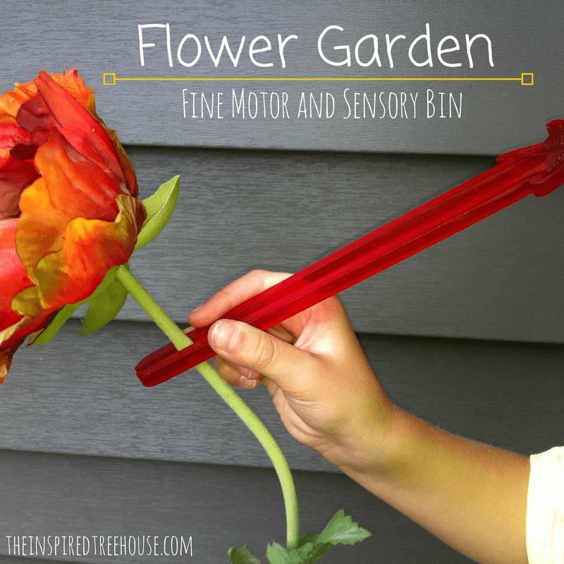 fine motor activities flower garden fine motor and sensory bin