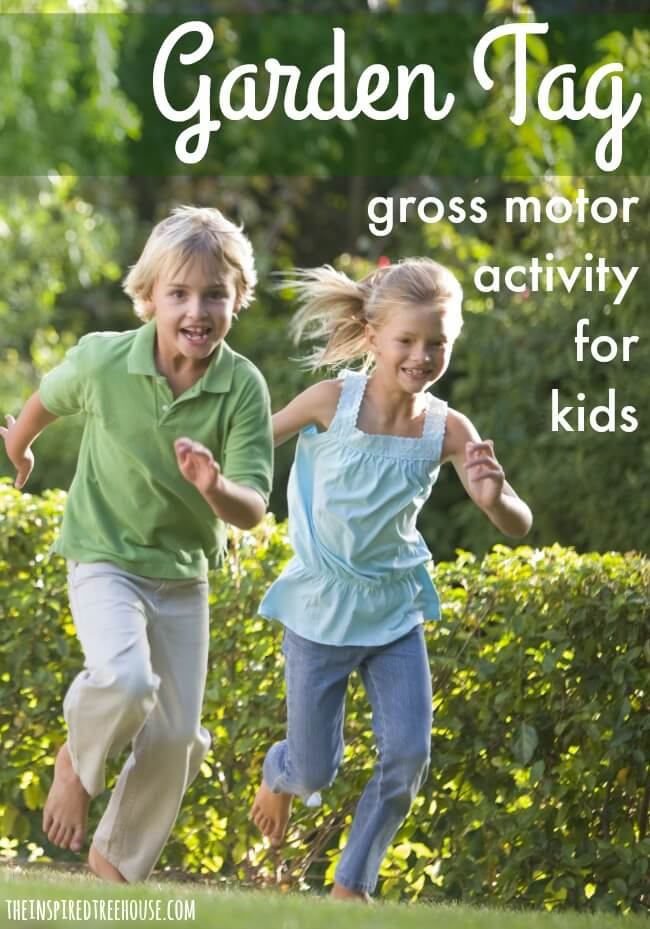 garden tag gross motor activities pin