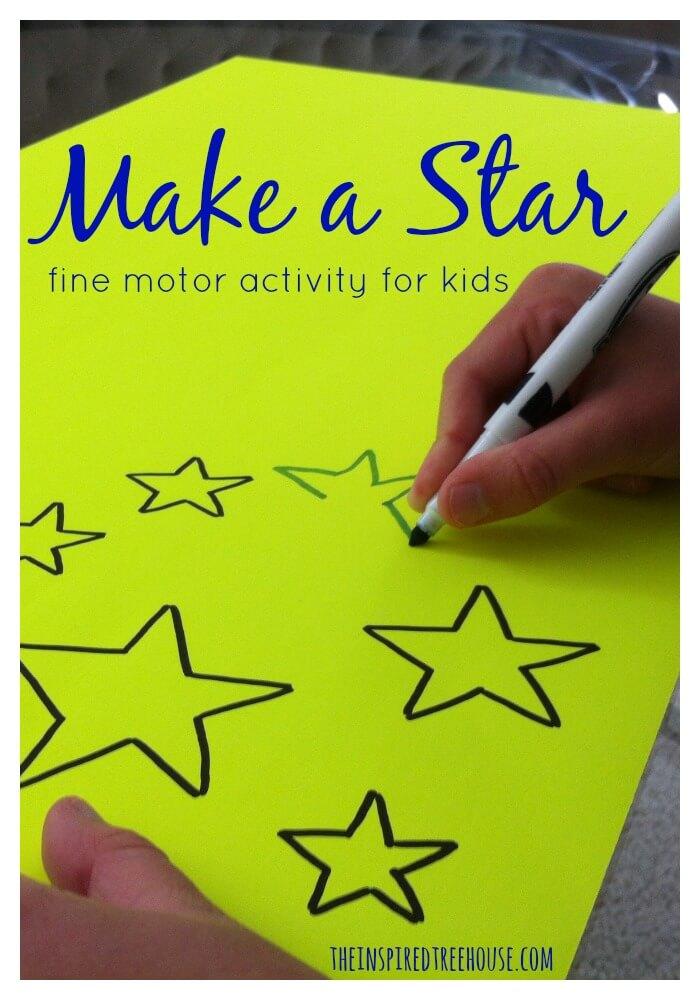 fine motor activities make a star