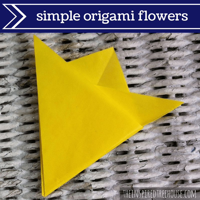 Fine motor activities simple origami flowers the inspired treehouse fine motor activities origami flowers mightylinksfo