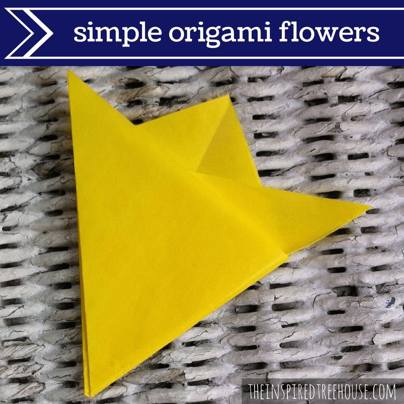 fine motor activities origami flowers