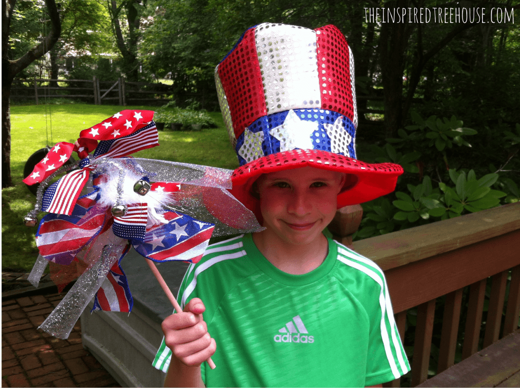 fine motor activities patriotic wands 3