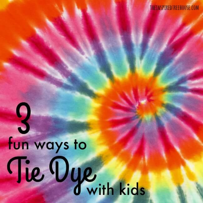 TIE DYE WITH KIDS AS A FUN FINE MOTOR ACTIVITY