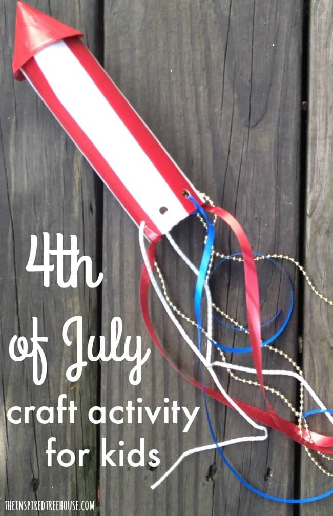 The Inspired Treehouse - Try this simple 4th of July craft and movement activity to keep kids entertained this holiday weekend!