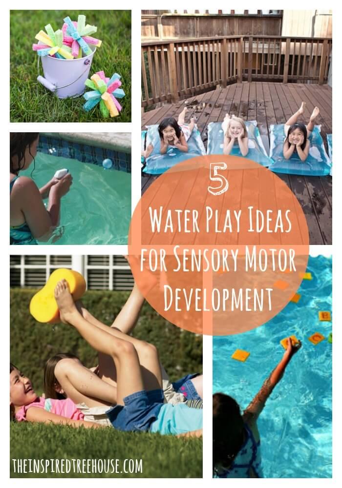 5 water activities for kids sensory motor develoment
