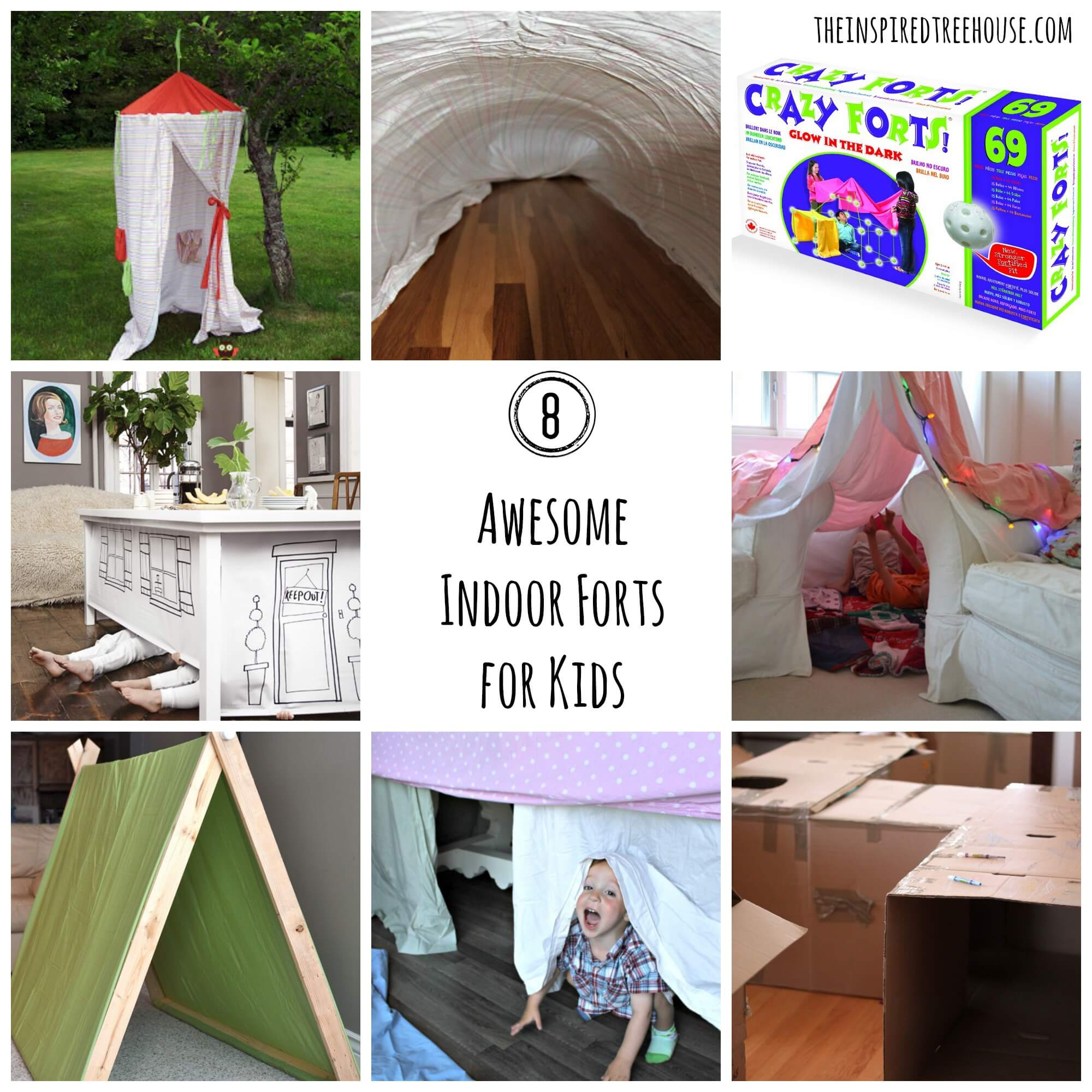 ACTIVITIES FOR KIDS: 8 AWESOME INDOOR FORT IDEAS - The Inspired ...