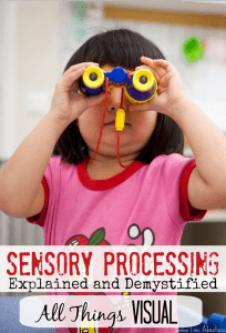 sensory processing visual lemon lime adventures