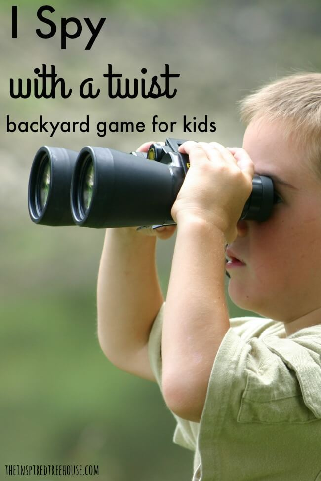 The Inspired Treehouse - Kids will love this new twist on an old favorite - I Spy!  Add this to your list of backyard games this summer!